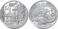 Abb. 4 Eine österreichische 10 Euro Münze von 2009 zeigt den Basilisken von Wien. Nach der Sage wurde er getötet, indem man ihm einen Spiegel vorhielt, so dass sich seine tödliche Kraft gegen ihn selbst wandte.