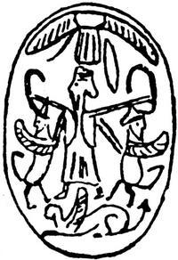 Aus: O. Keel / Chr. Uehlinger, Götter, Göttinnen und Gottessymbole (QD 134), Freiburg, 5. Aufl. 2001, Abb. 361a; © Stiftung BIBEL+ORIENT, Freiburg / Schweiz