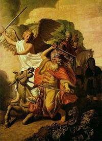 Abb. 1 Bileam und die Eselin (Rembrandt; 1626).