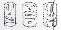 Aus: Manfred Görg, Israel in Hieroglyphen, BN 106 (2001), 21-27, 24