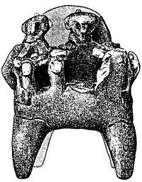 Aus: O. Keel / Chr. Uehlinger, Götter, Göttinnen und Gottessymbole (QD 134), Freiburg 5. Aufl. 2001, Abb. 395; © Stiftung BIBEL+ORIENT, Freiburg / Schweiz