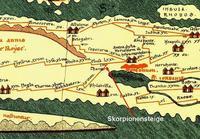 Abb. 2 Skorpionensteige auf der *Tabula Peutingeriana*.