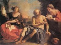 Abb. 3 Lot und seine Töchter (Francesco Guercino; 1650).