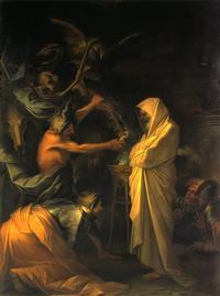 Abb. 8 Salvator Rosas Darstellung der Frau von En-Dor als Hexe (1668).