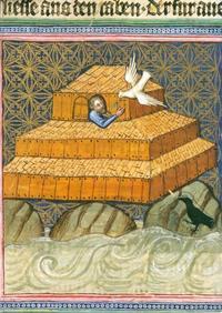 Abb. 4 Noah schickt die Taube aus (Wenzelsbibel; 14. Jh.).