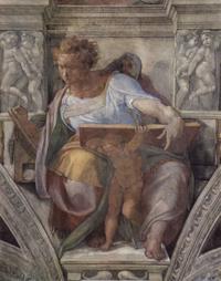Abb. 2 Der Prophet Daniel (Michelangelo in der Sixtinischen Kapelle; 1511).