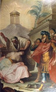 Abb. 9 Jeftah tötet seine Tochter (Bild des Eichstätter Malers Johann Michael Baader; 18. Jh.).
