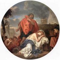 Abb. 4 Jeftah tötet seine Tochter (Charles Lebrun; 17. Jh.).