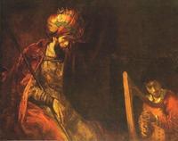 Abb. 5 David spielt Harfe vor Saul (Rembrandt; 1660 n. Chr.).