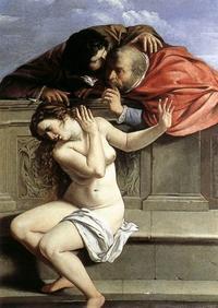 Abb. 12 Die Richter bedrängen Susanna (Artemisia Gentileschi; 1610).