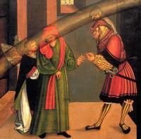 Abb. 4 Das 2. Gebot (Gemälde von Lucas Cranach; Detail von Abb. 2).