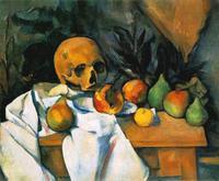 Abb. 3 Stillleben mit Schädel (Paul Cézanne; 1895-1900).