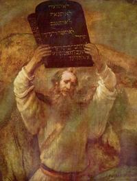 Abb. 7 Mose zerstört die Tafeln des Gesetzes (Rembrandt; 1659).