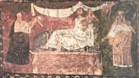 Abb. 8 Die Totenerweckung des Elia (Synagoge von Dura-Europos; 3. Jh. n. Chr.).
