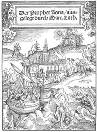Abb. 1 Die Jona-Erzählung (aus der Werkstatt von Lukas Cranach; 1526).