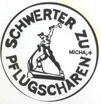 "Abb. 1 ""Schwerter zu Pflugscharen"" (Symbol der Friedensbewegung der DDR, 1980)."