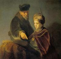 Abb. 2 Samuel bei Eli (Gerrit Dou; 1613-1675).