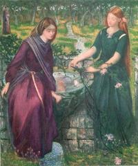 Abb. 5 Dantes Vision von Rahel und Lea (Dante Gabriel Rossetti; 1855).