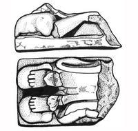 Aus: C. Herrmann, Ägyptische Amulette aus Palästina / Israel (OBO 138), Freiburg(Schweiz) / Göttingen 1994, KatNr. 284; © Christian Herrmann