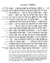 Abb. 3 Seite 1 der Biblia Hebraica Stuttgartensia mit textkritischem Apparat von Otto Eißfeldt.