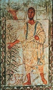 Abb. 4 Mose vor dem Dornbusch (Synagoge von Dura Europos; 3. Jh.).