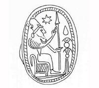 Zeichnung (C. Wolff) nach: M. Dunand, Fouilles de Byblos, tome II, 1933-1938, Paris 1958, pl. 198, 6950