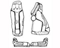 Aus: C. Herrmann, Ägyptische Amulette aus Palästina / Israel (OBO 138), Freiburg(Schweiz) / Göttingen 1994, KatNr. 282-283; © Christian Herrmann