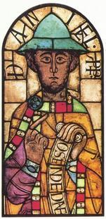 Abb. 1 Der Prophet Daniel (Glasmalerei; Augsburger Dom; 12. Jh.).