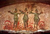 Abb. 4 Die Freunde im Feuerofen (Priscilla-Katakombe in Rom, 3. Jh.).