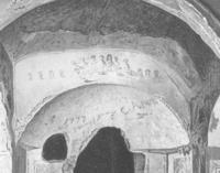 """Wilpert, J.: Fractio panis: Die älteste Darstellung des eucharistischen Opfers in der """"Cappella greca"""" entdeckt und erläutert, Freiburg i. Br. 1895, Tafeln, S. 6"""