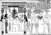 Aus: J.G. Wilkinson, The Manners and Customs of the Ancient Egyptians, Bd. III, London 2. Aufl. 1878, Pl. 64