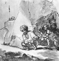 Abb. 3 David verschont Saul (1Sam 24,3-14; Rembrandt van Rijn; um 1657-1660).