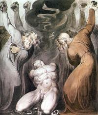Abb. 1 Die Steinigung Achans (William Blake; um 1800).