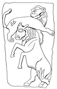 Aus: O. Keel, Das Recht der Bilder, gesehen zu werden. Drei Fallstudien zur Methode der Interpretation altorientalischer Bilder (OBO 122), Freiburg (Schweiz) / Göttingen 1992, Abb. 170; © Stiftung BIBEL+ORIENT, Freiburg / Schweiz