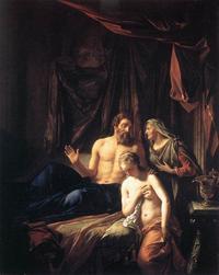 Abb. 1 Abraham, Sara und Hagar (Adriaen van der Werff; 1699).