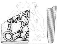 Aus: O. Keel / Chr. Uehlinger, Götter, Göttinnen und Gottessymbole (QD 134), Freiburg 5. Aufl. 2001, Abb. 399; © Stiftung BIBEL+ORIENT, Freiburg / Schweiz