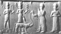 Aus: D. Collon, Catalogue of the Western Asiatic Seals in the British Museum, Cylinder Seals III. Isin-Larsa and Old Babylonian Periods, London 1986, Abb. 447