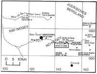 Aus: Jericke 1997, 233 Karte 7.4; © Deutscher Verein zur Erforschung Palästinas / Detlef Jericke