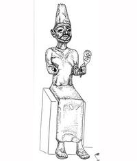 Aus: O. Keel / Chr. Uehlinger, Götter, Göttinnen und Gottessymbole (QD 134), Freiburg 5. Aufl. 2001, Abb. 56; © Stiftung BIBEL+ORIENT, Freiburg / Schweiz