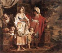 Abb. 4 Sara und Abraham verstoßen Hagar und Ismael (Pieter Jozef Verhaghen; 1781).